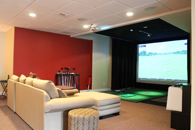 Basement Golf Simulator Inspiration
